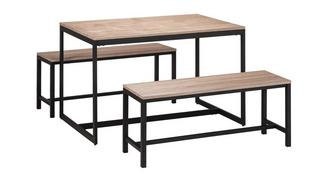Corsica Fixed Top Table and 2 Benches