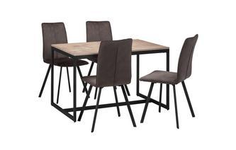 Eetkamertafel inclusief 4 eetkamerstoelen