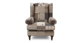 Country Patch High Wing Back Chair