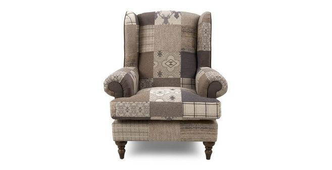 Country: Patch High Wing Back Chair