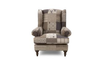 Patch High Wing Back Chair Country Patch