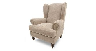 Country Plain High Wing Back Chair