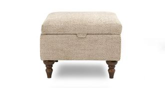 Country Plain Storage Footstool