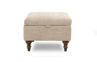 Plain Storage Footstool Country Plain