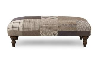 Patch Banquette Footstool