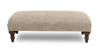 Country Plain Banquette Footstool