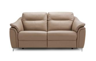 2 Seater Sofa (Leather Contrast)