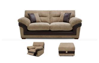 3 Seater Sofa, Power Chair & Stool