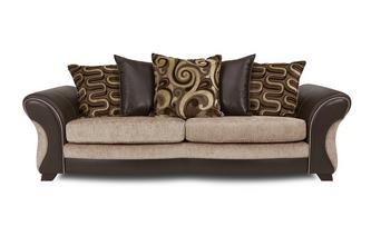 4 Seater Pillow Back Sofa Croft