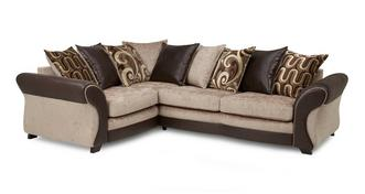 Croft Right Hand Facing 3 Seater Pillow Back Corner Sofa