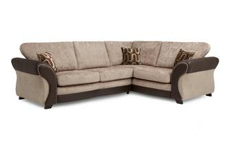 Left Hand Facing 3 Seater Formal Back Deluxe Corner Sofa Bed Croft