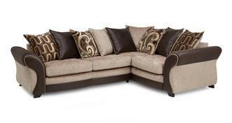 Croft Left Hand Facing 3 Seater Pillow Back Deluxe Corner Sofa Bed