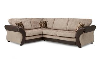 Right Hand Facing 3 Seater Formal Back Deluxe Corner Sofa Bed