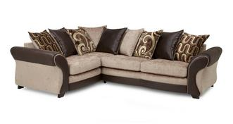 Croft Right Hand Facing 3 Seater Pillow Back Deluxe Corner Sofa Bed