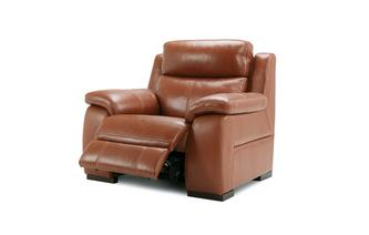 Crofton Electric Recliner Chair Brazil with Leather Look Fabric