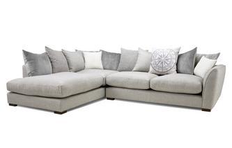 Pillow Back Right Hand Facing Arm Large Corner Sofa