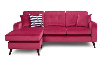 Velvet 4 Seater Lounger Removable Arm Sensual Velvet