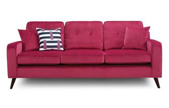 Velvet 4 Seater Sofa Removable Arm Sensual Velvet