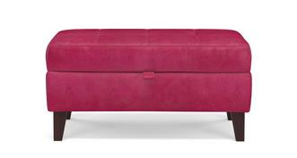 Cubana Velvet Storage Bench Stool