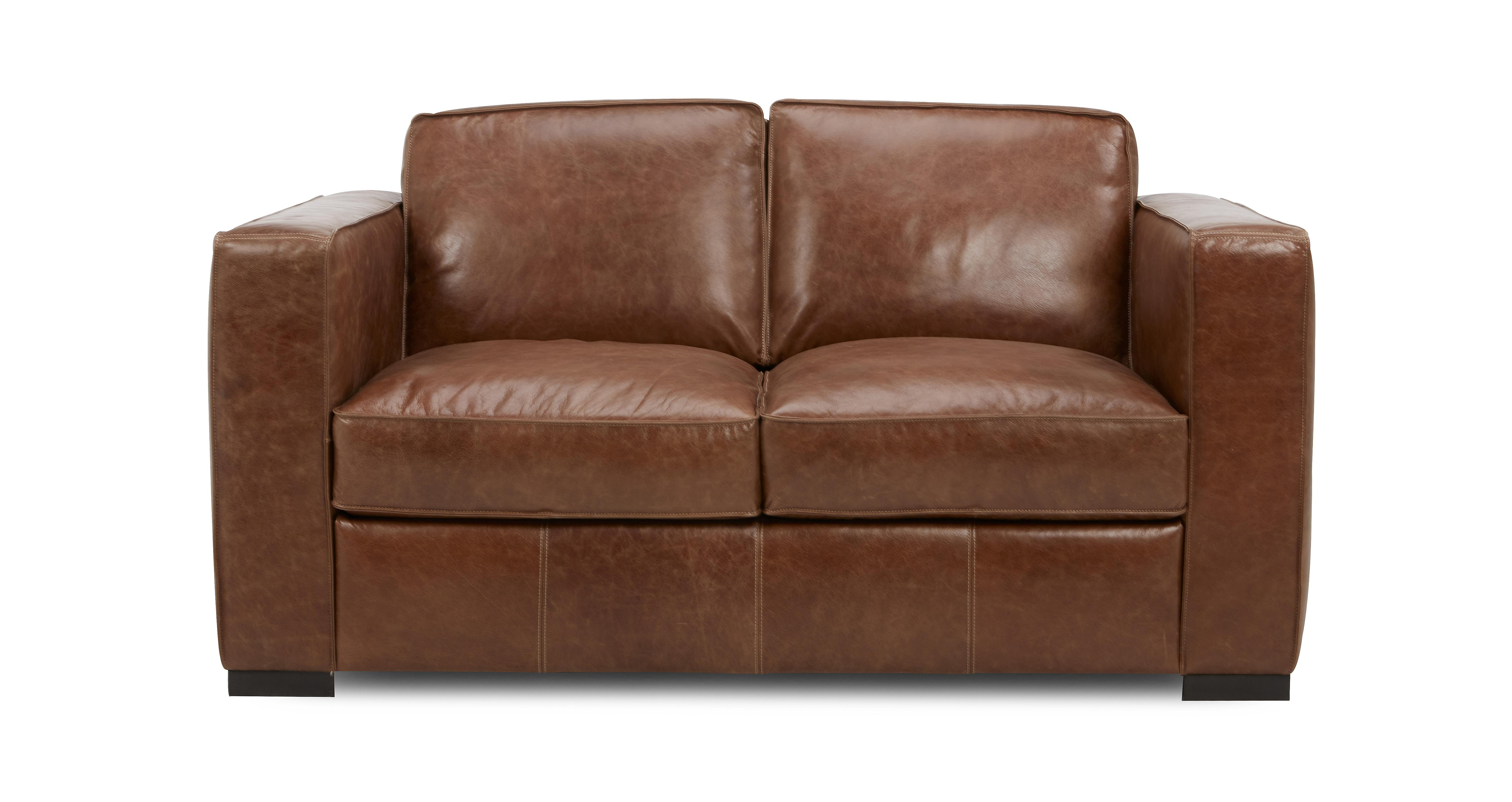 Leather bed chair - Quick View 2 Seater Sofa Fargo Contrast