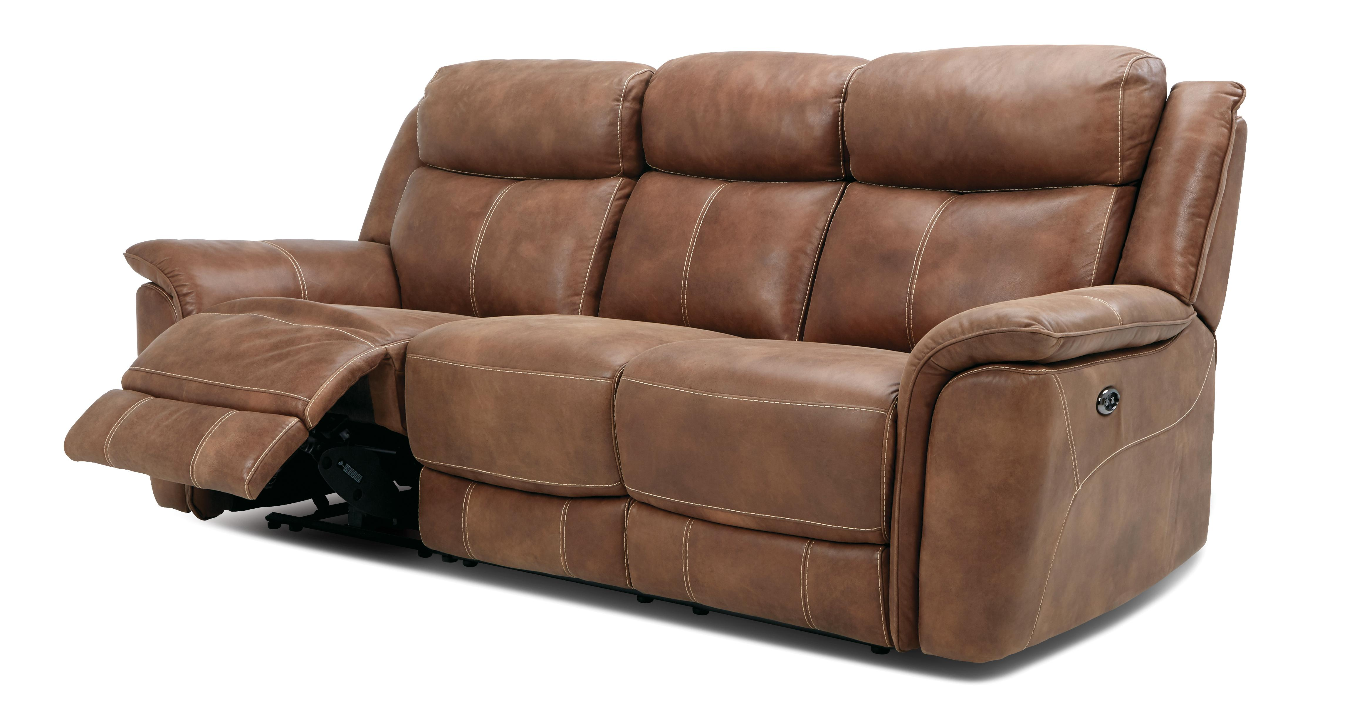 Dallas 3 Seater Power Plus Recliner Heritage Dfs
