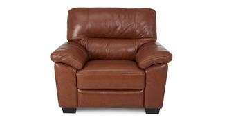 Dalmore Leather and Leather Look Armchair