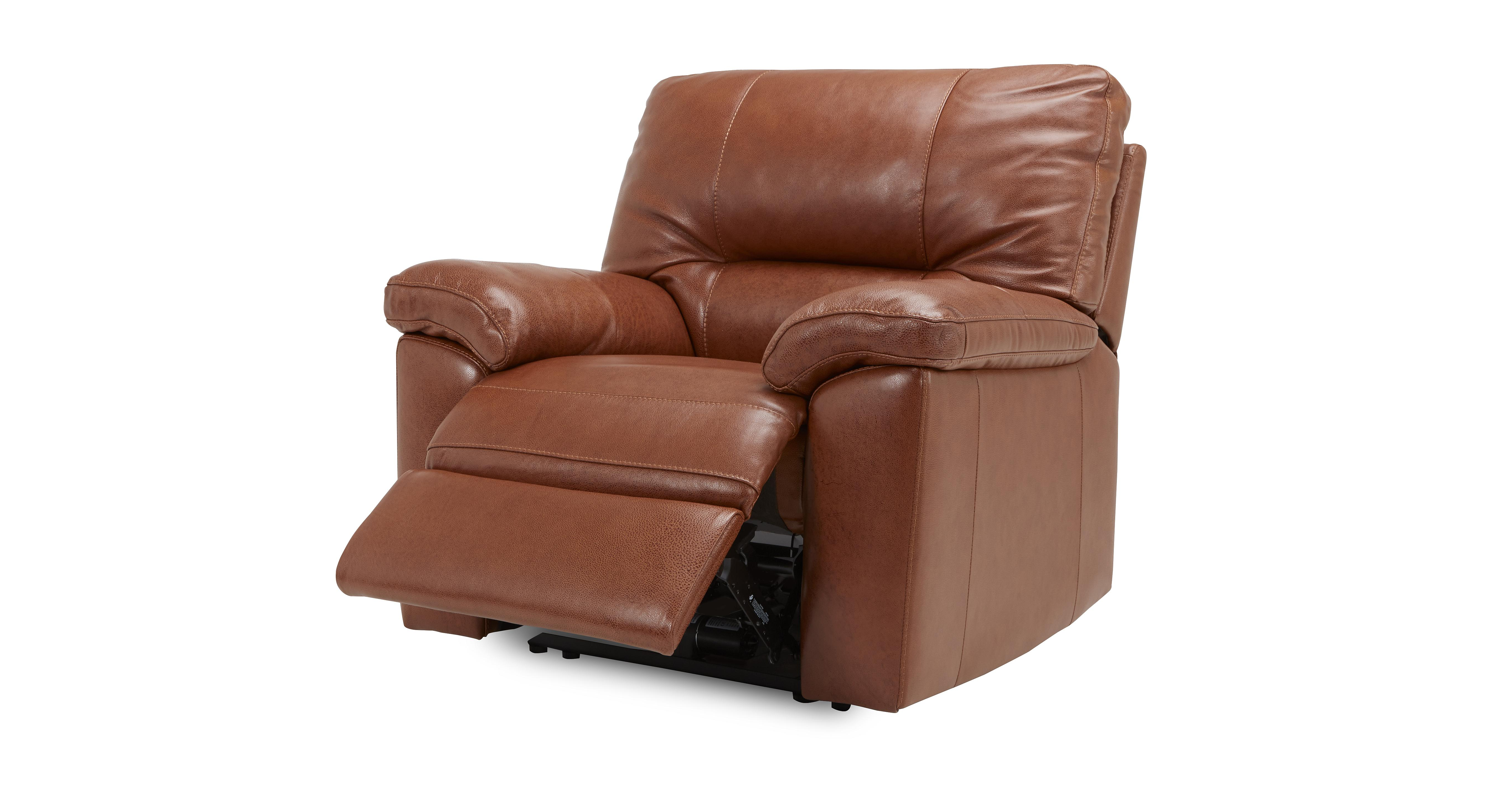 Dalmore Manual Recliner Chair Brazil With Leather Look