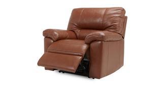 Dalmore leder en lederlook Accu recliner stoel
