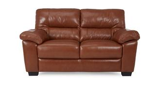 Dalmore Leather and Leather Look Large 2 Seater Sofa