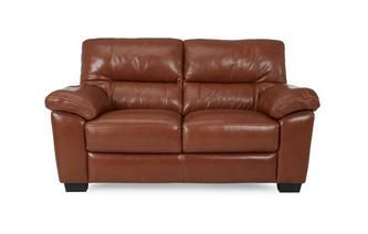 Leather and Leather Look Large 2 Seater Sofa Brazil with Leather Look Fabric