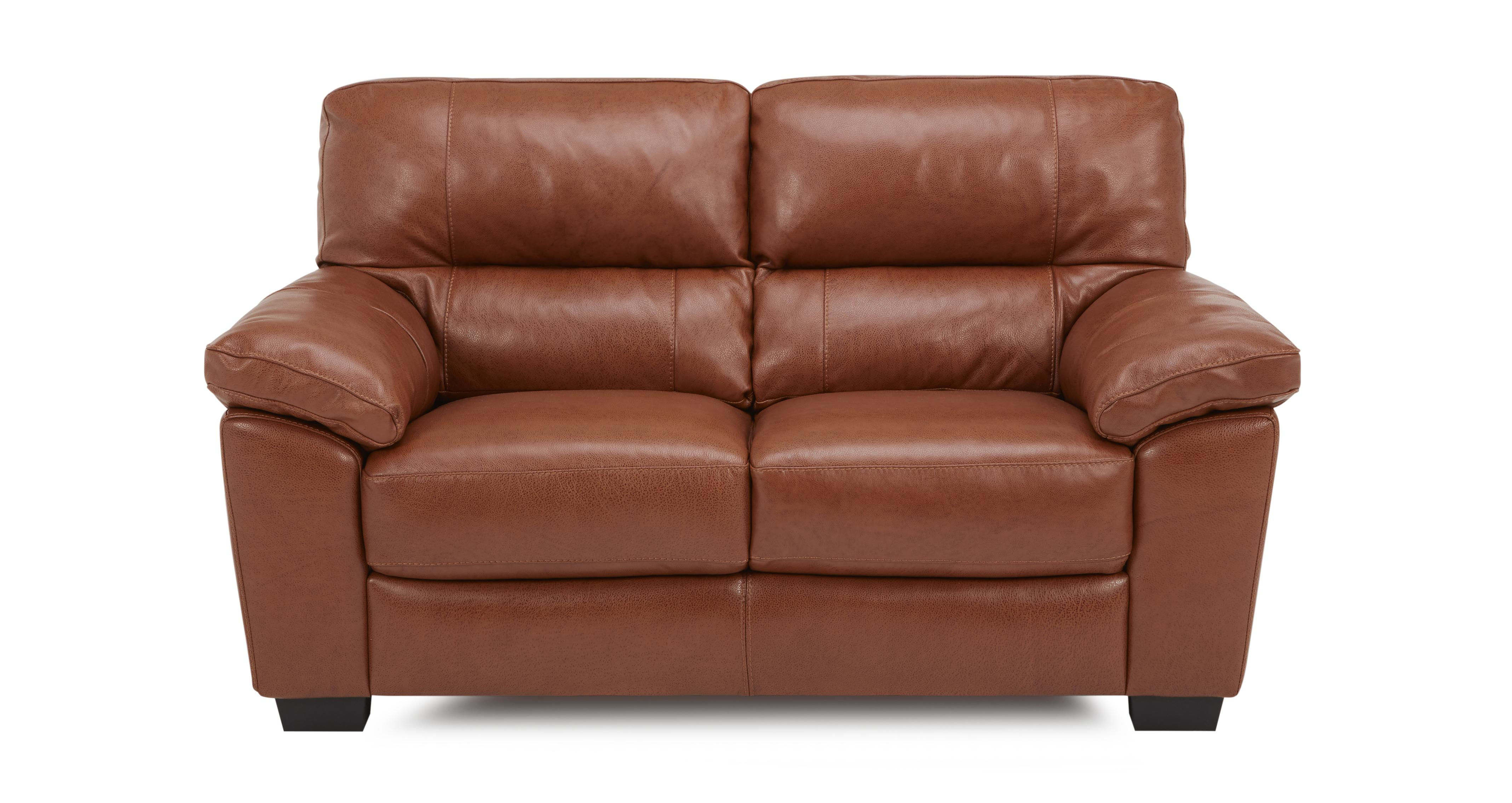 Dalmore 2 Seater Sofa Brazil With Leather Look Fabric