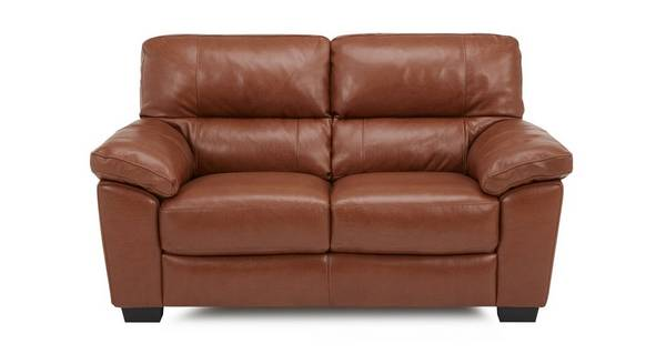 Dalmore Leather and Leather Look 2 Seater Sofa