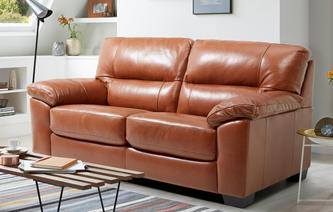 Dalmore Leather and Leather Look Large 2 Seater Sofabed Brazil with Leather Look Fabric