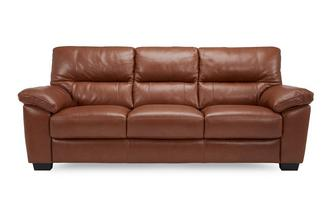 3 Seater Sofa Brazil with Leather Look Fabric