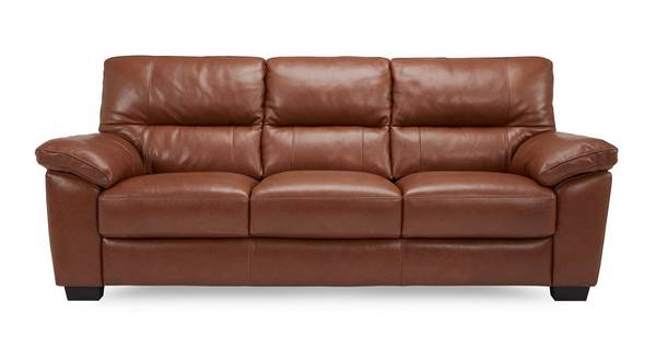 Dalmore Leather and Leather Look 3 Seater Sofa