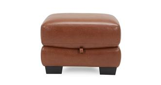 Dalmore Leather and Leather Look Storage Footstool