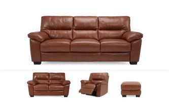 Dalmore Clearance 3 & 2 Seater Sofa, Power Chair & Stool Brazil with Leather Look Fabric