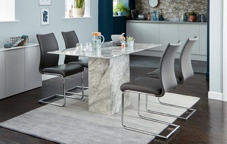 Damara Dining Table Set Of 4 Cantilever Chairs