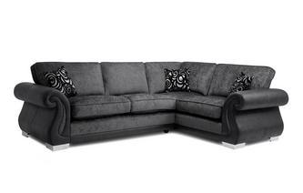 Formal Back Left Hand Facing 3 Seater Corner Supreme Sofa Bed
