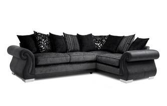 Pillow Back Left Hand Facing 3 Seater Corner Supreme Sofa Bed