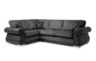 Formal Back Right Hand Facing 3 Seater Corner Deluxe Sofa Bed