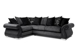 Pillow Back Right Hand Facing 3 Seater Corner Supreme Sofa Bed