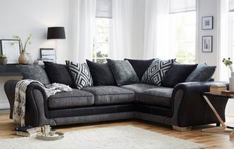 Darcey Left Hand Facing 3 Seater Pillow Back Corner Sofa Darcey