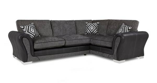 Darcey Left Hand Facing Formal Back Deluxe Corner Sofa Bed