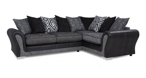 Darcey Left Hand Facing Pillow Back Deluxe Corner Sofa Bed