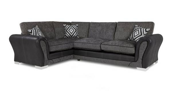 Darcey Right Hand Facing Formal Back Deluxe Corner Sofa Bed
