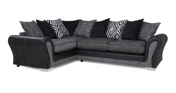 Darcey Right Hand Facing Pillow Back Deluxe Corner Sofa Bed