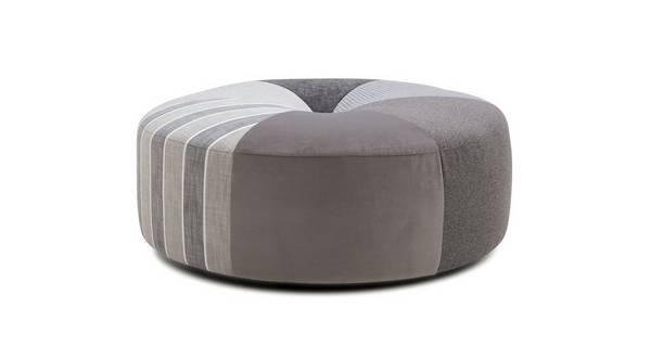 Darwin Pattern Round Footstool