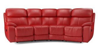 Daytona 4-zit hoek handbediende dubbele recliner