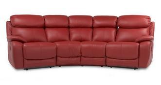 Daytona 4-zits hoek handbediende dubbele recliner
